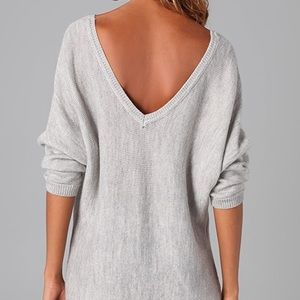 Feel the Piece V-back Sweater
